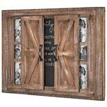 Crystal Art Gallery Barn Door 6-Opening Frame & Chalkboard Wall Decor