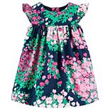 Baby Girl Carter's Allover Floral Print Sateen Dress