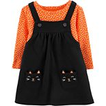 Baby Girl Carter's Halloween Bodysuit & Jumper Set