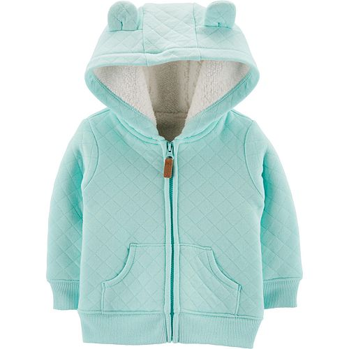 Baby Boy Carter's Quilted Zip-Up Cardigan