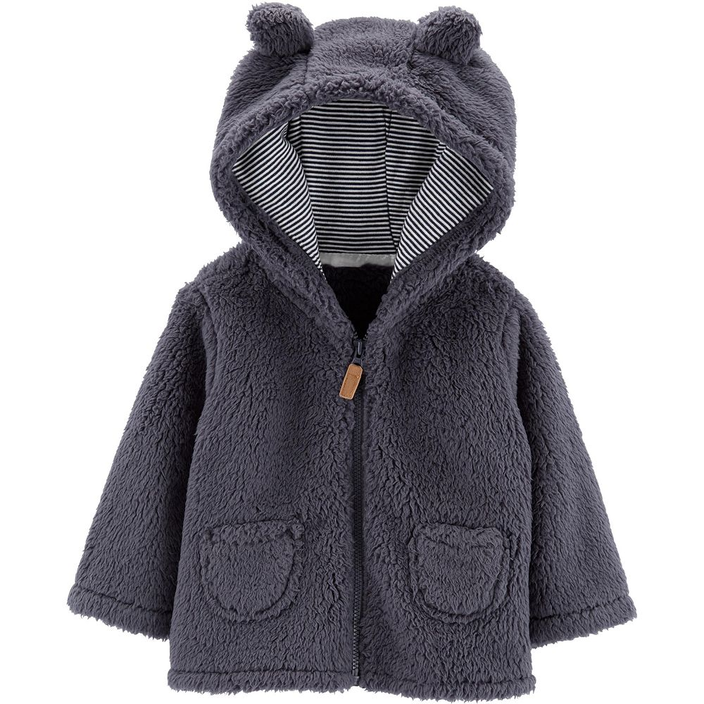 Baby Boy Carter's Zip-Up Sherpa Cardigan