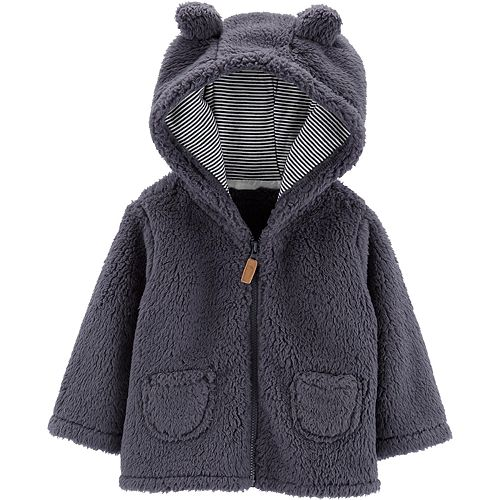 Baby Boy Carter's Zip-Up Sherpa Cardigan