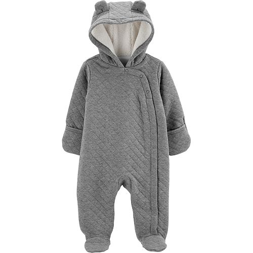 Baby Carter's Quilted Heather Hooded Bunting