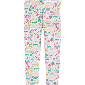 Toddler Girl Carter's Unicorn Print Leggings