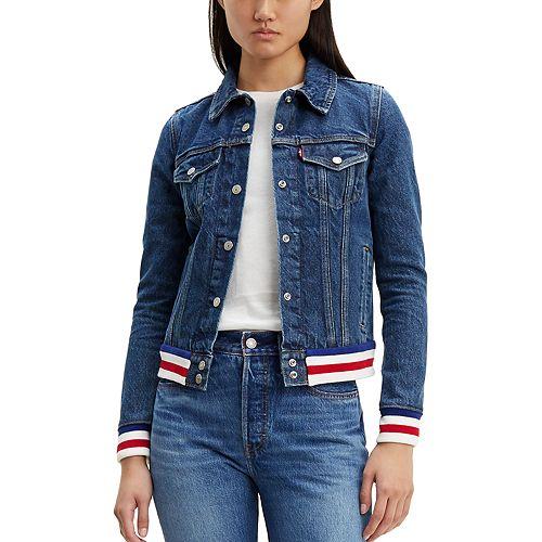 Women's Levi's Original Rib Trim Trucker Jeans Jacket
