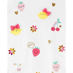 Toddler Girl Carter's Glitter Fruit Jersey Top