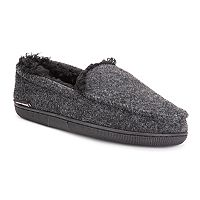 MUK LUKS Mens Faux Wool Moccasin Slippers Deals