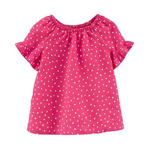 Toddler Girl Carter's Polka Dot Poplin Top