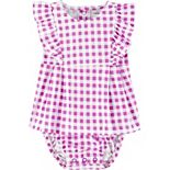 Baby Girl Carter's Ruffle Gingham Jersey Sunsuit