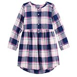 Girls 4-12 Jumping Beans® Henley Flannel Dress