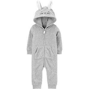 Baby Carter's Bunny Zip-Up Terry Jumpsuit