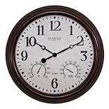 La Crosse Technology Indoor/Outdoor Wall Clock with Temperature & Humidity