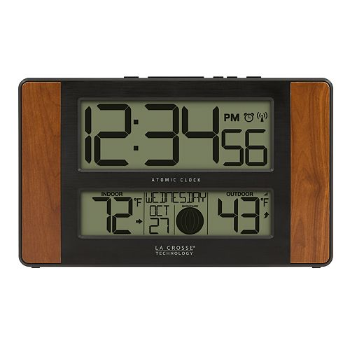 La Crosse Technology Atomic Digital Clock with Temperature & Moon Phase