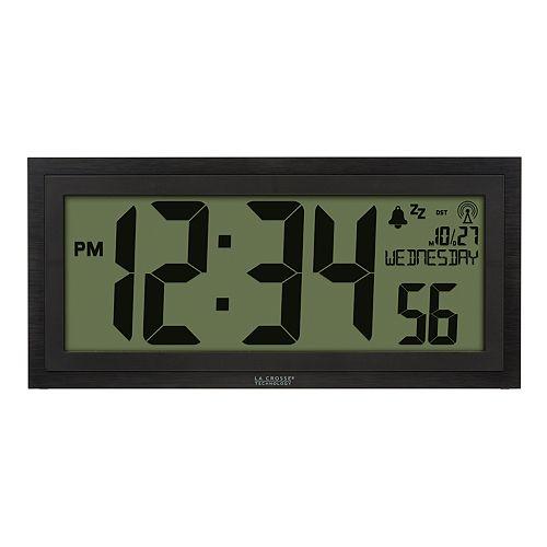 La Crosse Technology 15-Inch LCD Textured Atomic Clock