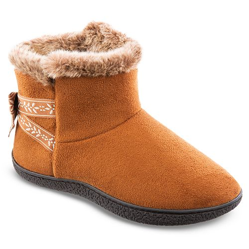 Women's Isotoner Microsuede Addie Boot With Bow