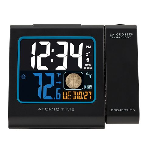 La Crosse Technology Color LCD Projection Alarm clock with Moon Phase