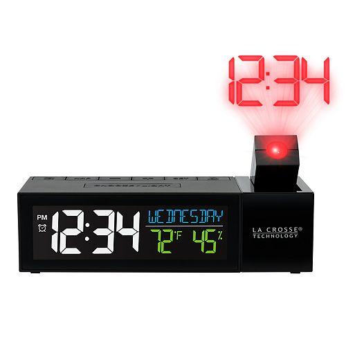 La Crosse Technology Pop-Up Bar Projection Alarm Clock with USB Charging Port