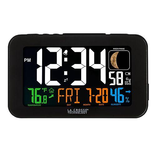 La Crosse Technology Color LED Alarm Clock with USB Charging Port