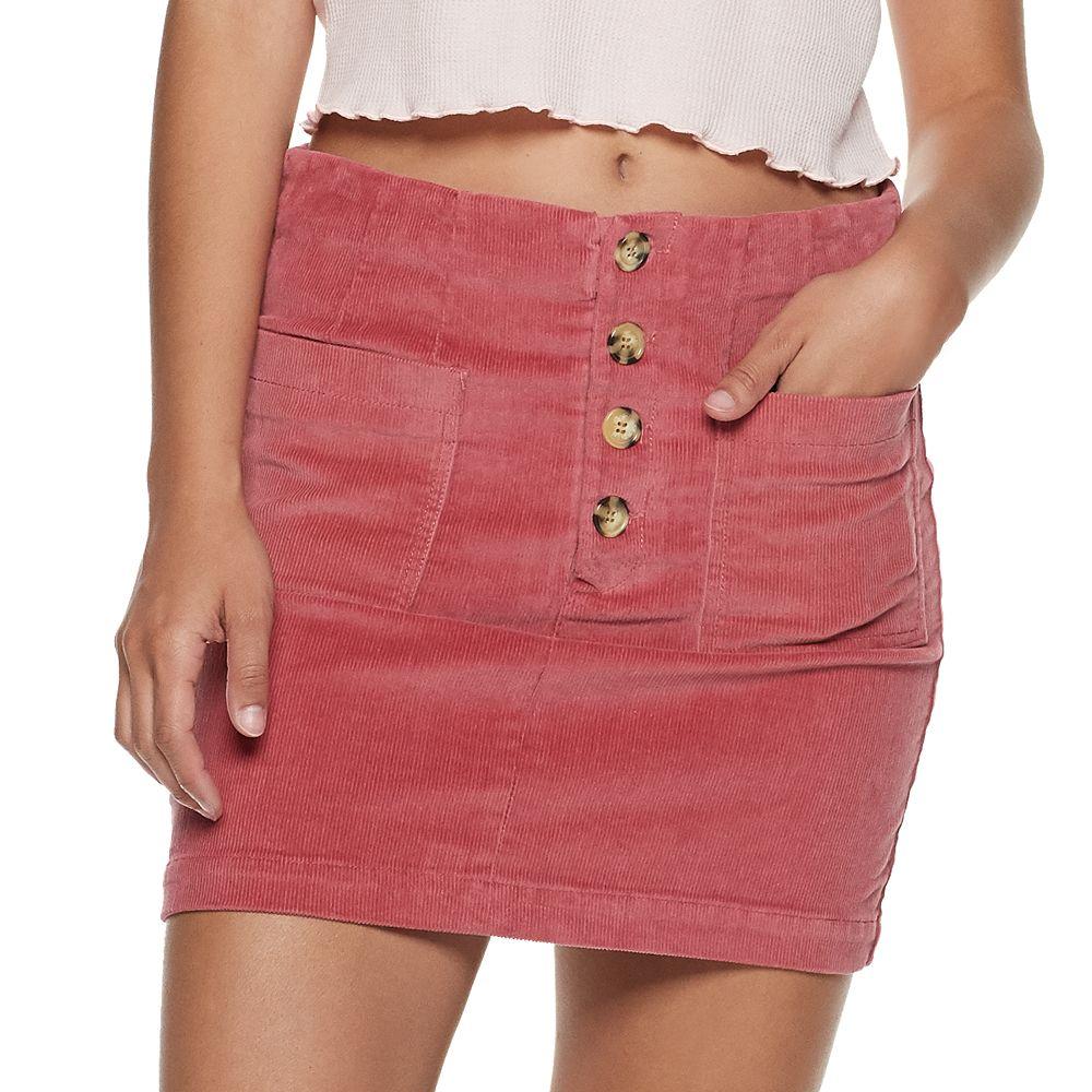 Juniors' Rewind Corduroy Skirt
