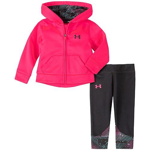 Baby Girl Under Armour Pixel Grid Hoodie & Leggings Set