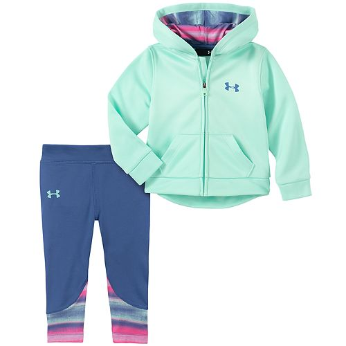 Baby Girl Under Armour Hoodie & Leggings Set