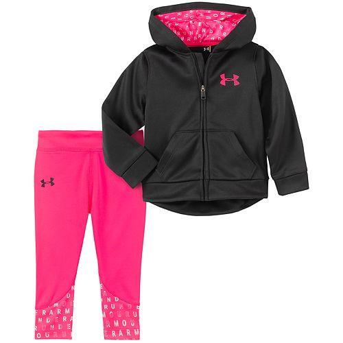 Baby Girl Under Armour Logo Hoodie & Leggings Set