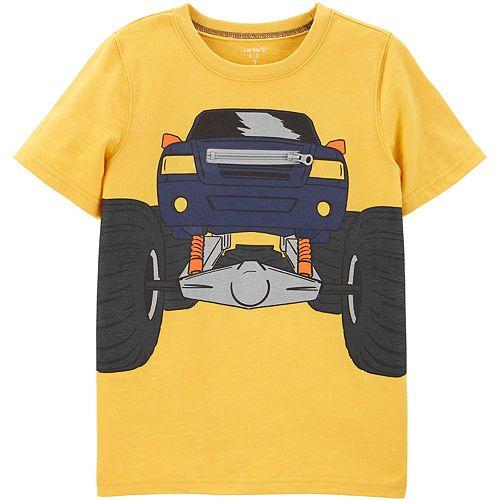 Boys' 4-14 Carter's Interactive Monster Truck Zipper Snow Yarn Tee
