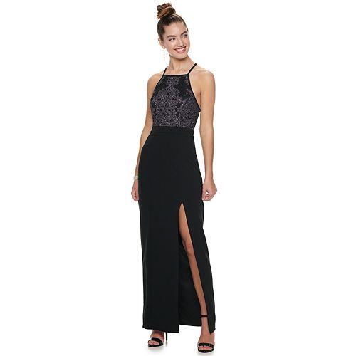 Juniors' Speechless Cavier Embellished Sleeveless Maxi Dress