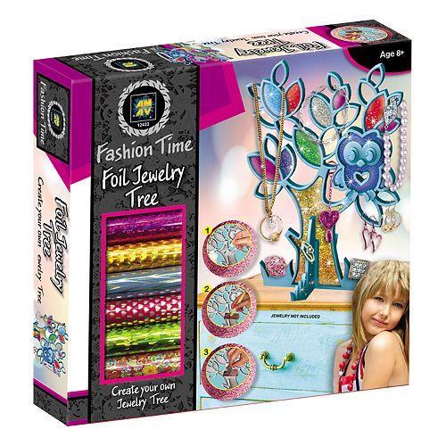 Girls Foil Jewelry Trees