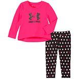 Baby Girl Under Armour Logo Tee & Leggings Set