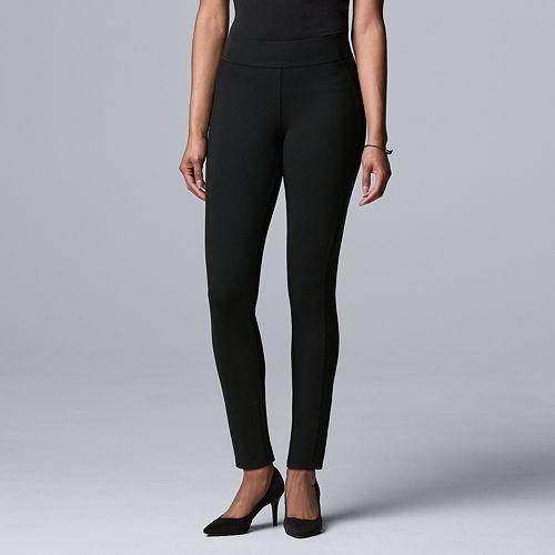 Women's Simply Vera Vera Wang Seamed Scuba Skinny Pants