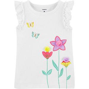 Toddler Girl Carter's Butterfly Flutter Tank Top