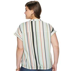 Juniors' Plus Size Liberty Love Woven Shirt