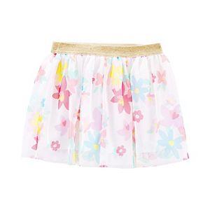 Toddler Girl Carter's Glitter Floral Tutu Skirt