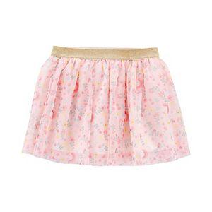 Toddler Girl Carter's Glitter Floral Unicorn Tutu Skirt