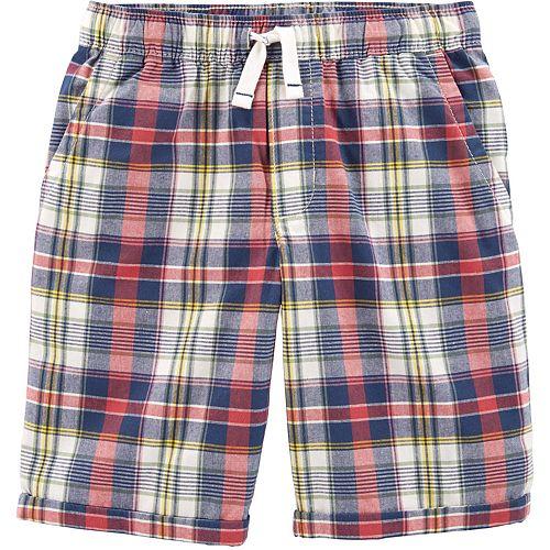Boys 4-14 Carter's Plaid Shorts