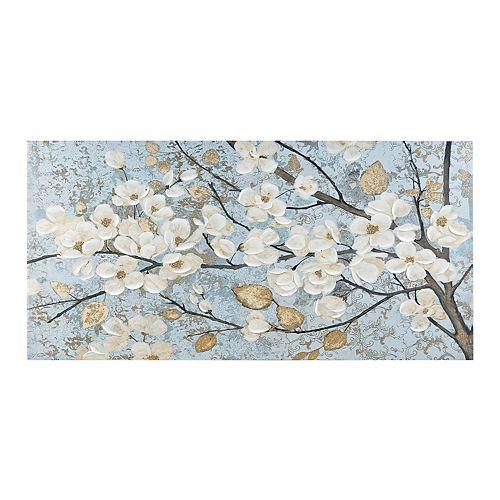 Madison Park Luminous Bloom Foil Canvas Wall Art