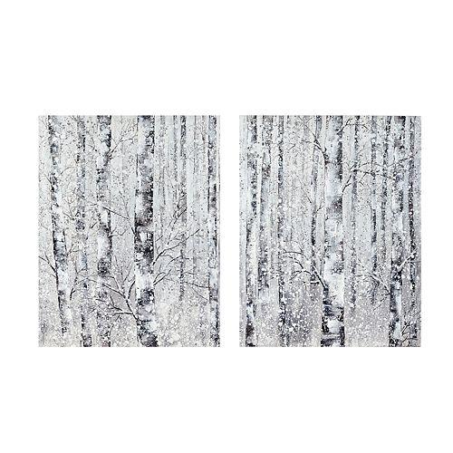Madison Park Winter Forest Canvas Wall Decor 2-piece Set