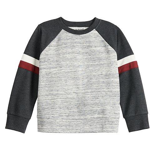 Toddler Boy Jumping Beans® Long-Sleeve Tape Crewneck Sweater