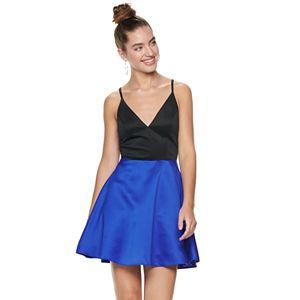 Juniors' Speechless Lace Trim Party Slip Dress
