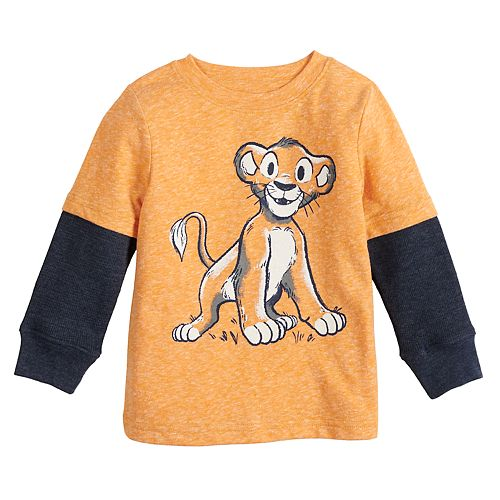 Baby Boy Jumping Beans® Snow Nep & Thermal Mock-Layer Lion Cub Graphic Top
