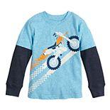 Toddler Boy Jumping Beans® Dirt Bike Layered Tee