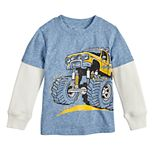 Toddler Boy Jumping Beans® Monster Truck Layered Sleeve Tee