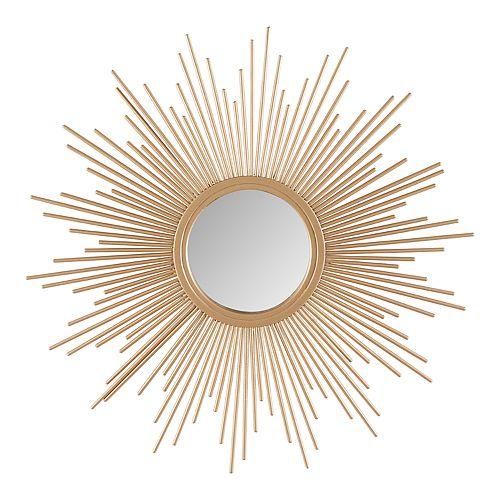 Madison Park Fiore Sunburst Wall Mirror