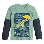 Toddler Boy Jumping Beans® Front Loader Layered-Sleeve Tee