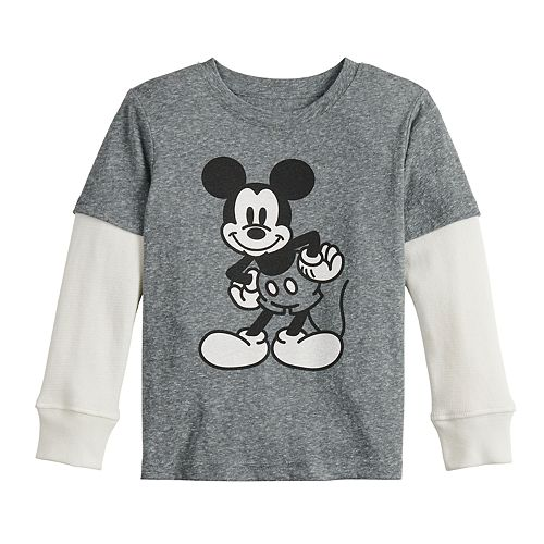 Toddler Boy Disney Jumping Beans© Mickey Mouse Jersey Thermal Skater Tee