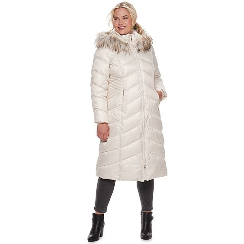 Plus Size Gallery Quilted Long Heavyweight Coat