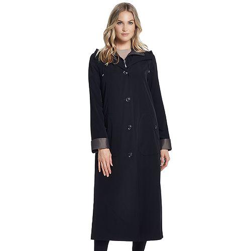 Women's Gallery Hooded Long Rain Coat