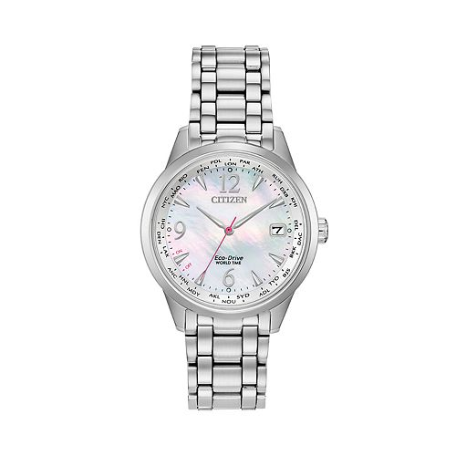 Citizen Eco-Drive Women's Stainless Steel World Time Watch