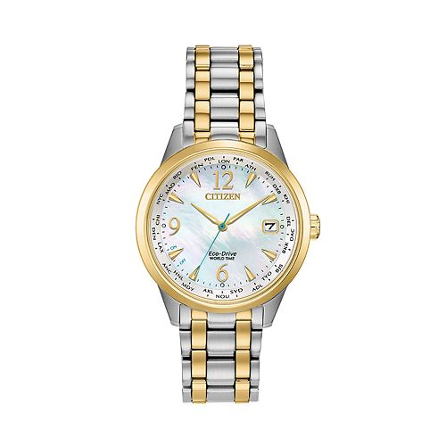 Citizen Eco-Drive Women's World Time Two-Tone Stainless Steel Watch